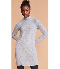 lou & grey striped brushmarl turtleneck dress