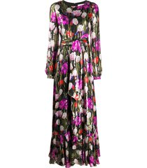borgo de nor moonlight tulip dress - black