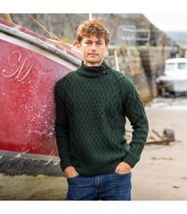 mens glengarriff green aran sweater large