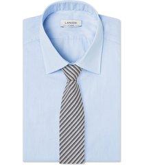 cravatta su misura, vitale barberis canonico, regimental lana grigio blu, quattro stagioni   lanieri