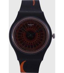 reloj negro-naranja swatch