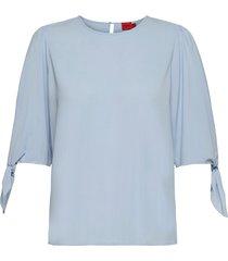 ciliras-1 blouses short-sleeved blå hugo