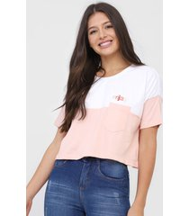 camiseta cropped hang loose enjoy rosa