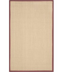 safavieh natural fiber maize and burgundy 6' x 9' sisal weave area rug