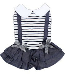 parisian pet preppy girl dog dress