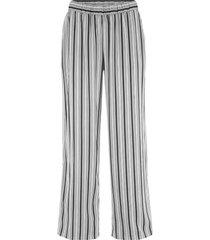 pantaloni in viscosa con elastico in vita a gamba larga (nero) - bpc bonprix collection