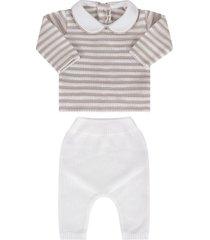 little bear white and beige babykids suit