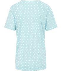 pyjama 100% katoen strepen en stippen van rösch turquoise