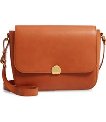 madewell the abroad leather shoulder bag - brown