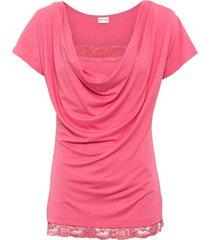 maglia con pizzo (rosa) - bodyflirt