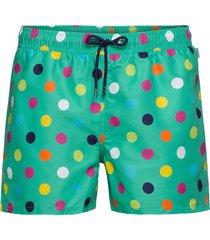 big dot swim shorts badshorts grön happy socks