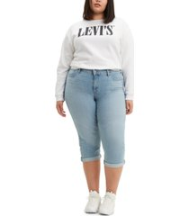 levi's trendy plus size shaping capri jeans
