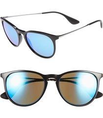 women's ray-ban erika classic 54mm sunglasses - black/ blue