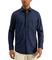 alfani men's regular-fit floral medallion-print shirt, created for macy's