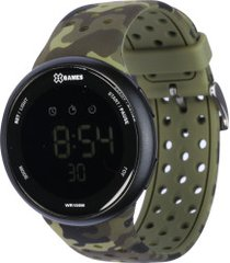 relógio digital x games xmppd486 - masculino - preto/verde escuro