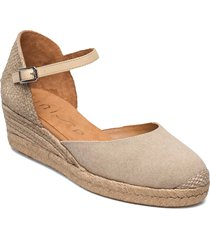 cisca_21_ecl_na sandalette med klack espadrilles creme unisa