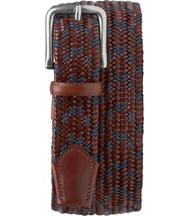 men's trask falcon woven belt, size 44 - redwood/ navy
