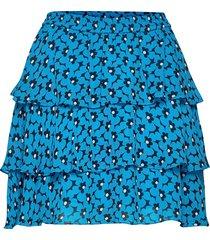 60s floral flrty skrt kort kjol blå michael kors