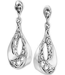 carolyn pollack filigree swirl drop earrings in sterling silver