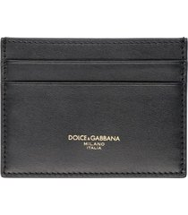 dolce & gabbana logo detail leather card holder