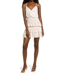 women's row a floral tiered smocked minidress