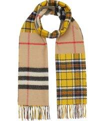 burberry patchwork vintage check scarf - neutrals