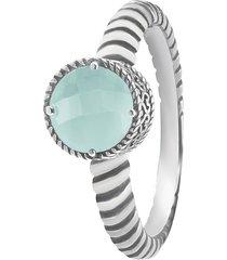 anello pietra colorata in argento 925 rodiato per donna