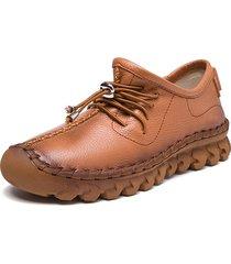 socofy scarpe basse stringate in cuoio