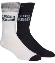tommy hilfiger men's 2-pk. logo socks