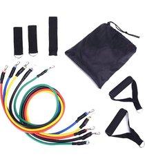 11 piezas conjunto tensor cuerda fitness traje tensor multifunción