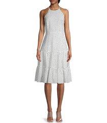 tommy hilfiger women's polka dot tiered dress - ivory - size 6