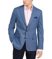 bar iii men's slim-fit blue knit sport coat, created for macy's
