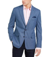bar iii men's slim-fit blue knit sport coat, created for macy's