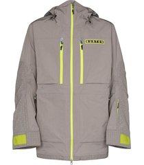 burton jaqueta frostner com capuz - cinza