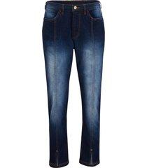 jeans cropped elasticizzati con spacchetto e cinta comoda (blu) - bpc bonprix collection