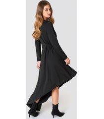 na-kd party ls draped jersey dress - black