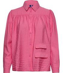 adrina shirt overhemd met lange mouwen roze résumé