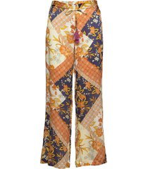 3349 - sasha flex t/l casual broek multi/patroon sand