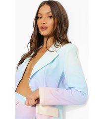 getailleerde ombre blazer, powder blue
