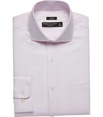 pronto uomo men's pink patterned modern fit dress shirt - size: 15 34/35 - only available at men's wearhouse