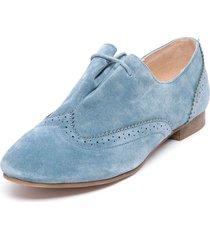 zapato oxford azul degas