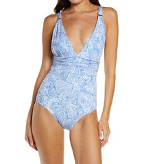 melissa odabash panarea one-piece swimsuit, size 12 in azzurro at nordstrom