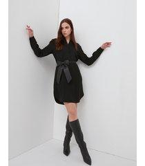 motivi vestito chemisier con cintura fiocco donna nero