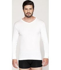 camiseta manga larga algodon kayser