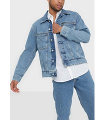 calvin klein jeans iconic oversized denim jacket jackor denim