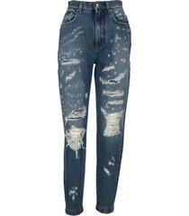 dolce & gabbana dolce & gabbana amber jeans with jacquard inserts