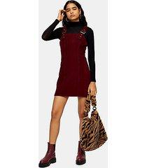 tall horn corduroy buckle dress - burgundy