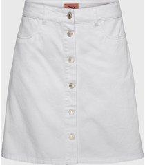 falda only blanco - calce regular