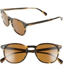 oliver peoples finley esq. 51mm sunglasses in cocobolo/brown at nordstrom