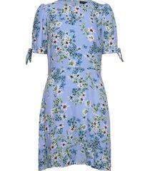 ecovero™ puff-sleeve dress korte jurk blauw banana republic